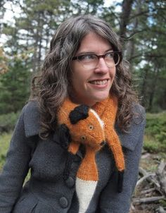 Pinner: I've become obsessed with the idea of knitting or crocheting a fox stole, so I've been collecting patterns.