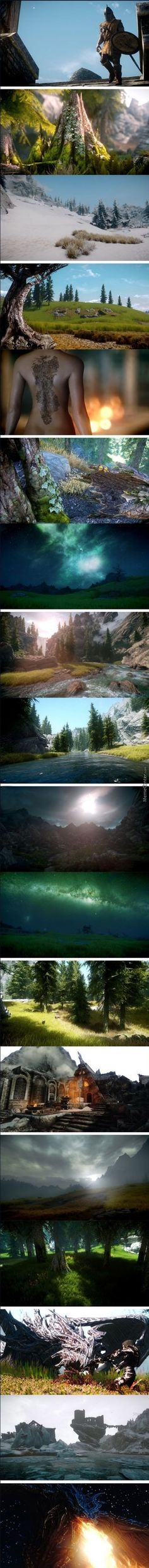 What Skyrim Looks Like If You Run It At 100 M