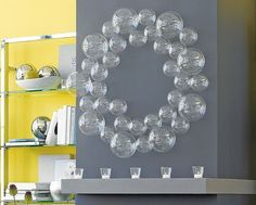 Hanging decor -- bubble balls can be bought at cb2 for just $2 or $4 dollars. So versatile, can hang, do a wall decor.. etc