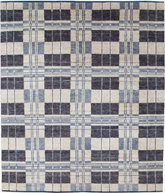 Plaid from Christopher Farr - COMMUNE Rug in multicolor blue wilde plaid
