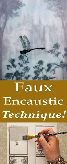 Faux Encaustic Technique by Heather Tracy for The Graphics Fairy. This is such a great craft technique so fun for Mixed media Artwork!