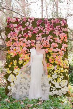 Awesome rainbow inspiration contrasting a white wedding dress