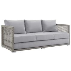 Shop for Aura Outdoor Patio Wicker Rattan Sofa. Get free delivery at Overstock.com - Your Online Garden & Patio Shop! Get 5% in rewards with Club O! - 26570672