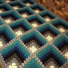 Photo by Anna Adria on October Crochet Afghans, Crochet Bedspread Pattern, Crochet Square Blanket, Crochet Cushions, Crochet Quilt, Crochet Dishcloths, Granny Square Crochet Pattern, Crochet Flower Patterns, Crochet Pillow