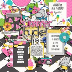 Summer Bucket Lists, Shadow Box, Digital Scrapbooking, Summertime, How To Find Out, Make It Yourself, Creative, Sweet, Candy