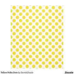 Yellow Polka Dots Fleece Blanket Available on many products! Hit the 'available on' tab near the product description to see them all! Thanks for looking!  @zazzle #art #polka #dots #shop #home #decor #bathroom #bedroom #bath #bed #duvet #cover #shower #curtain #pillow #case #apartment #decorate #accessory #accessories #fashion #style #women #men #shopping #buy #sale #gift #idea #fun #sweet #cool #neat #modern #chic #laptop #sleeve #black #orange #blue #yellow #green  #white