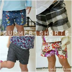 Summer Shorts! {Free Pattern and Tutorial}
