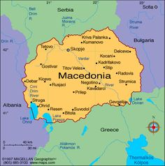 Macedonia Atlas: Maps and Online Resources | Infoplease.com