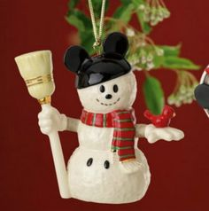 Mickey Mouse Snowman Ornament by Lenox