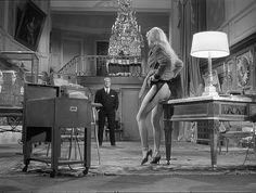 """Jean Gabin and Brigitte Bardot in """"En cas de malheur"""" (in case of adversity) directed by Claude Autant-Lara, 1958"""