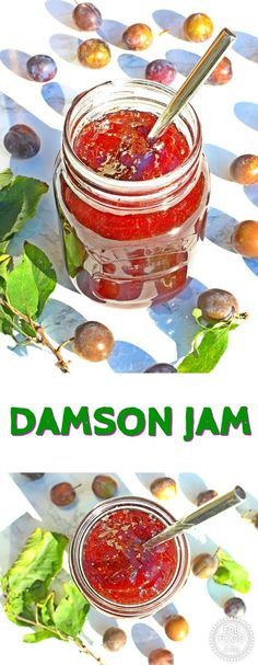 Damson Jam with my tip for pitting Damsons easily! No pectin or jam sugar, just damson plums and granulated sugar needed for this popular jam! Jam Recipes, Side Dish Recipes, Sauce Recipes, Brunch Recipes, Summer Recipes, Breakfast Recipes, Dessert Recipes, Picnic Recipes, Jelly Recipes