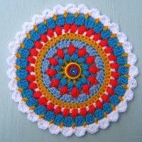 Crochet Mandala Wheel made by Angie, Lincolnshire, UK, for yarndale.co.uk