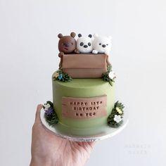 We Bare Bears cake. We Bare Bears cake. Pretty Cakes, Cute Cakes, Wilton Candy Melts, Fondant Cake Toppers, We Bare Bears, Bear Cakes, Cake Decorating Tips, Love Cake, Birthday Cake Girls
