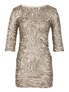 Sequined mini dress with three quarter sleeves Gold Event Dresses, Casual Dresses, Formal Dresses, Fresh Outfits, Dance Fashion, Sequin Mini Dress, Buy Shoes, Best Brand, Fashion Online