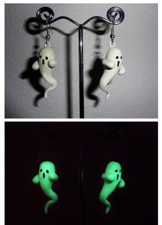 $15  Cute Halloween Glow in the Dark Ghost Earrings