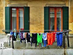 Clothes Line -  I REMEMBER MY AUNT WHO LIVED IN AN UPSTAIRS APT DOING THIS IN HANFORD CALIF IN THE 60'S