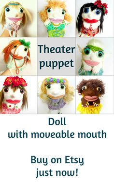 Etsy shop with felt puppets and toys | puppets • hand puppets • finger puppets •kids gifts • kids toys • kids games • kids ideas • muppets • bibabo • puppet theater • puppet diy • puppets for kids to make • muppets funny • muppets party • muppet quotes • muppets birthday party | ★ bozhenafelt.etsy.com