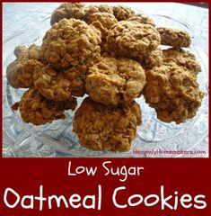 Low Sugar Oatmeal Cookies