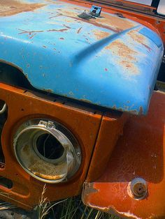 Rusted Fj40 by JamMarz, via Flickr - Great colors
