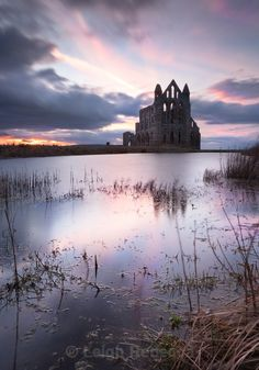 Whitby Abbey Sunset, Yorkshire by Leigh Rebecca