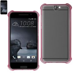 Reiko Htc One A9 Transparent TPU Case With Air Cushion Shock Absorption Technology In Clear Hot Pink