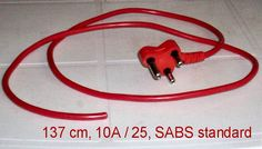 Electric cords with 3 point plugs. Red: 17 in stock White: 7 in stock Buy 1 cords with 3 point plugs for R 15 each. Total = R Buy 24 cords with 3 point plugs for R 10 each. Total = R Condition: hand, but as good as new. Pretoria, Buy 1, Cords, South Africa, Plugs, Conditioner, Electric, Gadgets, Red