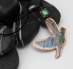 """Collana con ciondolo uccello """"arte da indossare"""" 8 di SilmieCreations su DaWanda.com"""