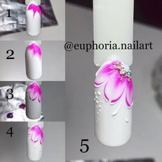 nailart ・ ・ ・ Simple MK Flower of Five .