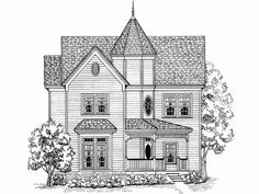 Victorian House Plan with 1947 Square Feet and 3 Bedrooms from Dream Home Source | House Plan Code DHSW54021