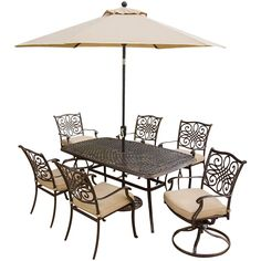 Traditions 7-Piece Dining Set w/Umbrella