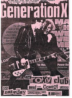 Generation X at the Roxy Club, London, 1977.
