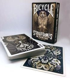 Strigiformes Owl Bicycle Playing Cards Poker Size Deck by Will Roya — Kickstarter