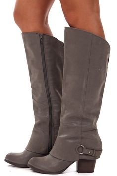 Lime Lush Boutique - Grey Suede Overlay Boot, $89.99 (http://www.limelush.com/grey-suede-overlay-boot/)