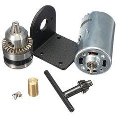 5v-12v torno 555 motor con micro broca de sujeción y soporte de montaje