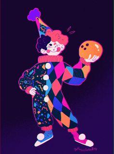 Pretty Art, Cute Art, Arte Grunge, Cute Clown, Cartoon Art Styles, Character Design Inspiration, Cute Drawings, Clowns, Art Inspo
