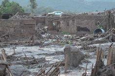 O distrito de Bento Rodrigues foi atingido pela lama devido ao rompimento de barragem de rejeito da mineradora Samarco   foto: Antonio Cruz/Agência Brasil