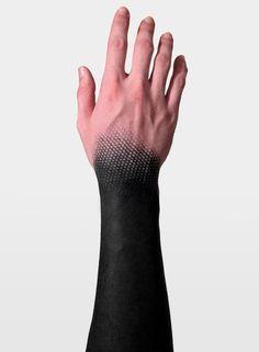 Wrist blackwork/geometric tattoo. Done by Andrew Anich. #blackwork #tattoo #geometric