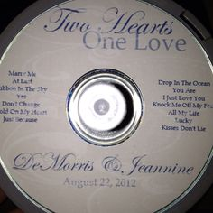 DIY CD Label- Couple picks out some of their favorites that will be at the dance as a wedding favor Wedding Favors, Party Favors, Wedding Invitations, Wedding Decorations, Wedding Stuff, Our Wedding, Wedding Ideas, Two Hearts One Love, Cd Diy