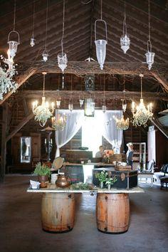 barn wedding reception, photo by Alders Photography http://ruffledblog.com/oxnard-barn-wedding #weddingreception #barnwedding