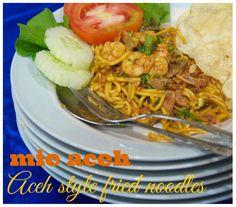 Indonesian Medan Food: Mie Aceh Original ( Original Aceh Style Fried Nood...