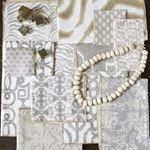 Bisque, Sand, Chalk, Heather, Camel and Champagne textile color ways #neutralismyfavoritecolor #textiledesigner #lacefieldstyle #interiors #designerfabric @itmashowtime