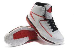 Air Jordan 2 Retro Shoes White Red Black
