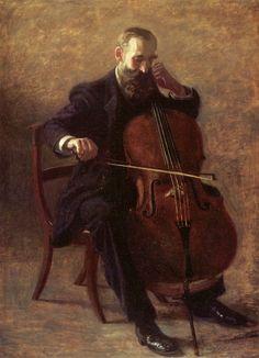 """Thomas Eakins, """"The Cello Player"""" (1896)"""