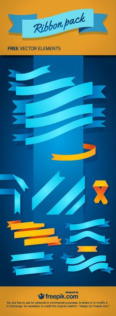 Download Free Ribbon Pack - 100% Vectors
