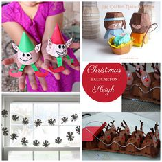 Christmas/Winter egg carton crafts for kids - crafty morning Childrens Christmas Crafts, Kids Christmas Ornaments, Xmas Crafts, Christmas Projects, Christmas Activities For Families, Fun Christmas Party Games, Egg Carton Crafts, Craft Day, Church Crafts