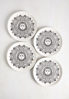 Oh Sol Hungry Plate Set. The smell of your cooking has your guests lining up in the kitchen, and these ceramic plates bring the bounty together in a lovely display! #white #modcloth