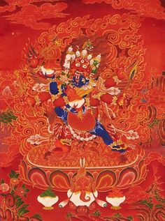 Haryagriva: Red #Thangka by Tashi Dhargyal (Sold) www.tashidhargyal.com