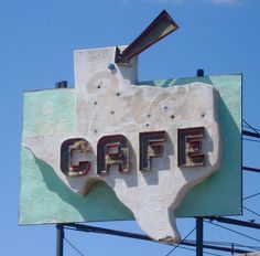 Old Texas Cafe Sign (Miami, Texas) by courthouselover, via Flickr