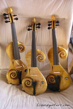 Liquid Guitars - Three Yellow Violins