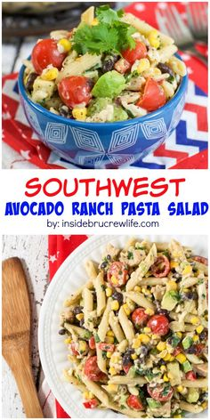 Fresh veggies, chicken, and dressing make this southwest pasta salad perfect for every summer picnic.